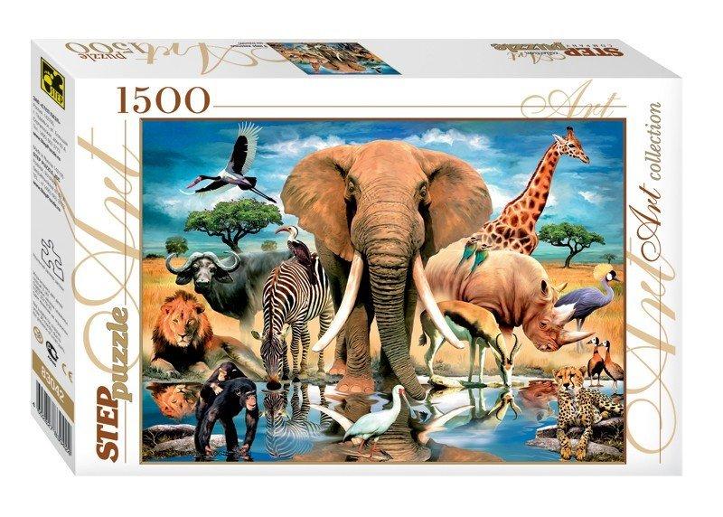 """Пазл 1500 """"Мир животных"""""""